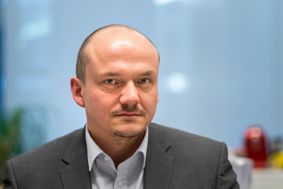 Möchte den Zwickauer Oberbürgermeister am 20.September wählen lassen: Sven Wöhl (47, Linke).