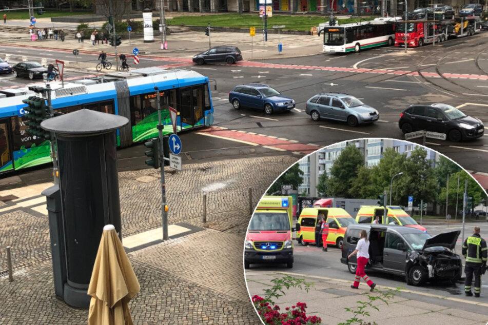 Chemnitz: Unfallschwerpunkt Brückenstraße: Warum's hier immer wieder kracht