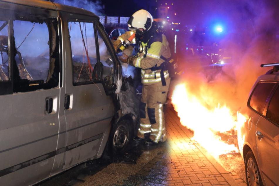 Brandserie in Dresden-Cotta: Feuerwehr in der Nacht gleich mehrfach gefordert