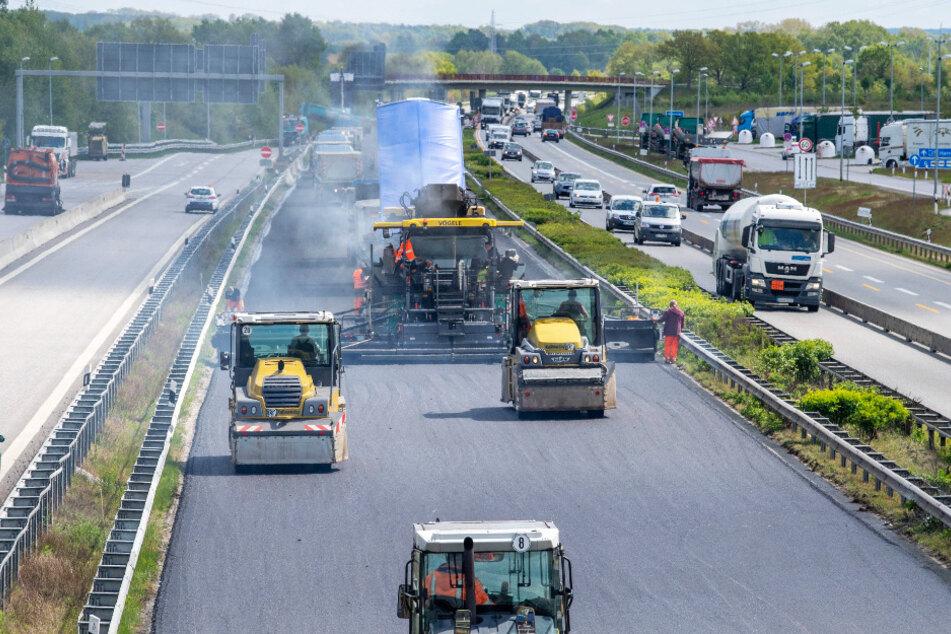 Auf Sachsens Autobahnen wird in diesem Jahr wieder fleißig gebaut - ganz zum Ärger der Autofahrer.