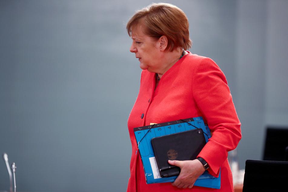 Bundeskanzlerin Angela Merkel (CDU) kommt zur wöchentlichen Kabinettssitzung.