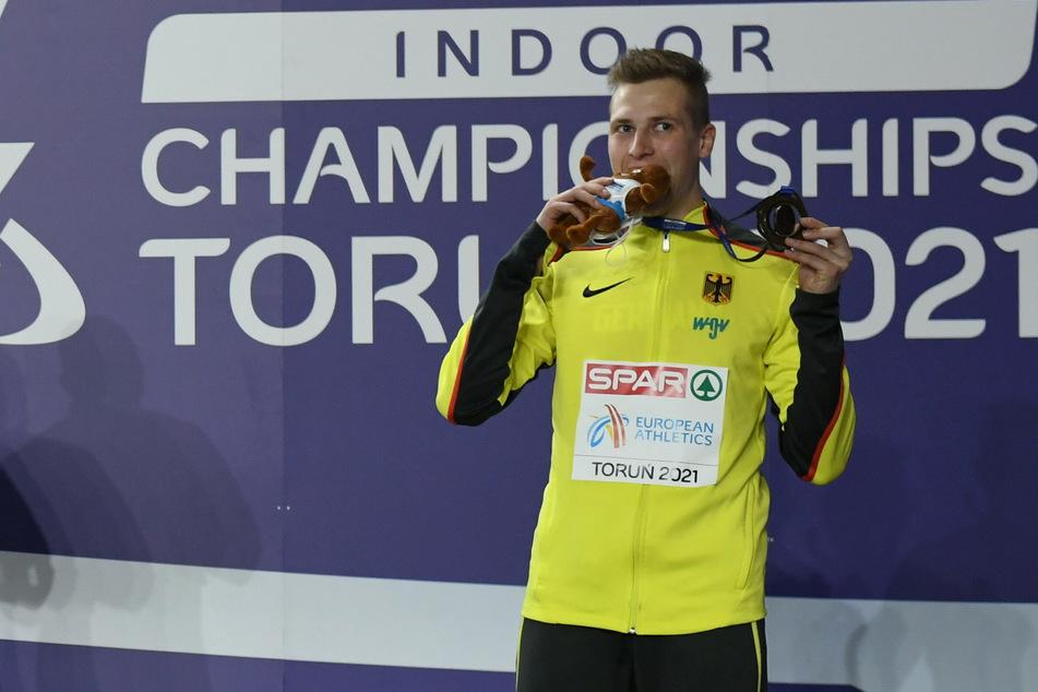 """Chemnitzer Dreispringer Max Heß gewinnt EM-Bronze: """"Insgesamt bin ich glücklich"""""""