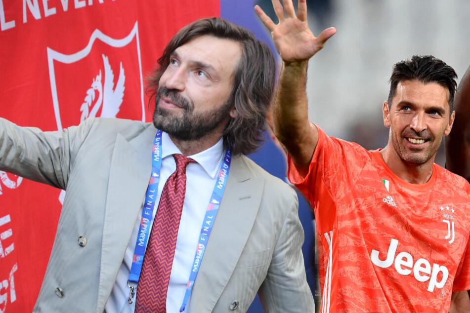 Buffon nimmt Pirlo aufs Korn: So empfängt die Juventus-Legende den neuen Coach