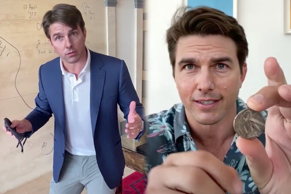 What is Tom Cruise doing on TikTok?