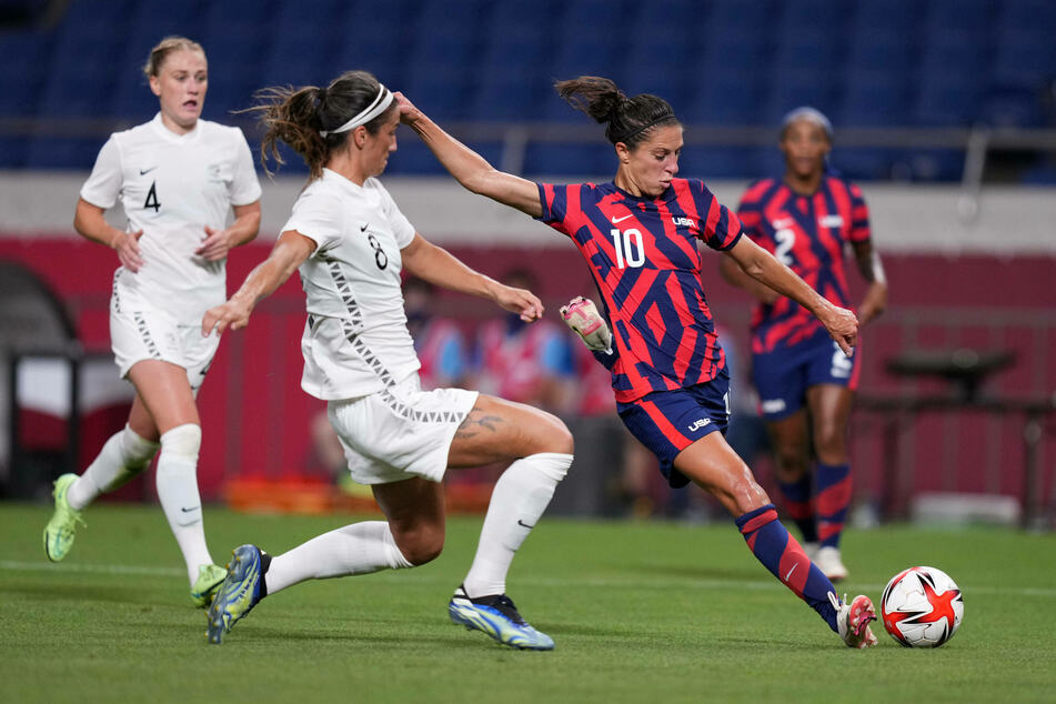 Olympics: US women's soccer team switches on against New Zealand