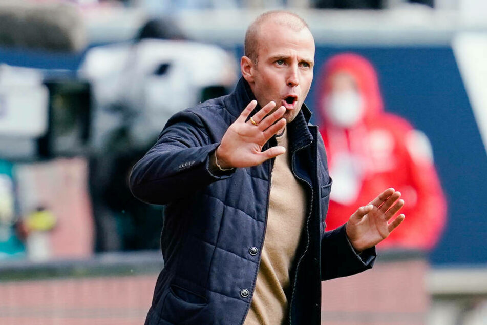 Dieses Mal war TSG-Trainer Sebastian Hoeneß nicht so zufrieden mit der Leistung seiner Elf.