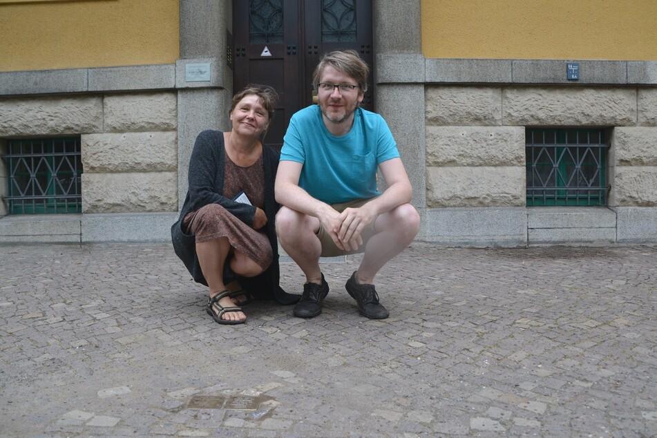 Die Initiatoren für die Umverlegung: Heidi Nenoff und Sebastian Schmideler.
