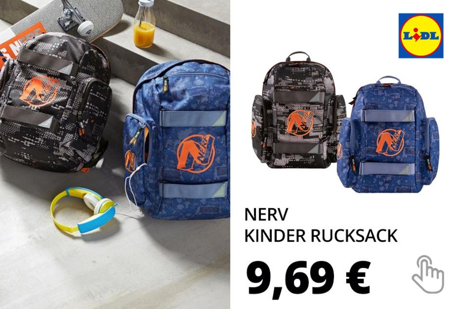 NERF Kinder Rucksack, 18 L Fassungsvermögen, Frontfach mit Fleeceeinlage