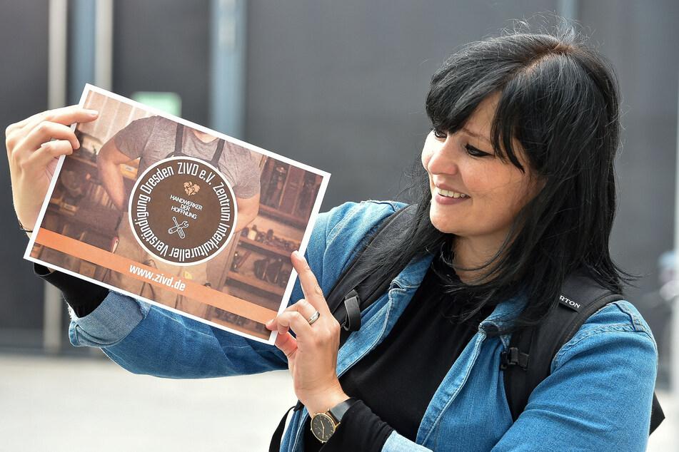 Julia Mahmoudi Zavieh (33) von Verein ZIVD sammelt für Ahrweiler.