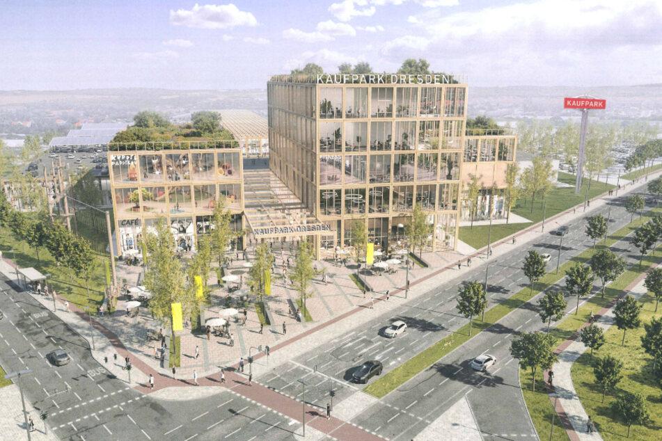 So soll der moderne Neubau des Kaufparks aussehen.