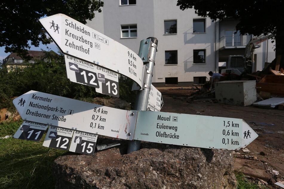 Zerstörte Häuser und Straßen: Im Schleidener Ortsteil Gemünd waren die Ausmaße des Hochwassers teils katastrophal.