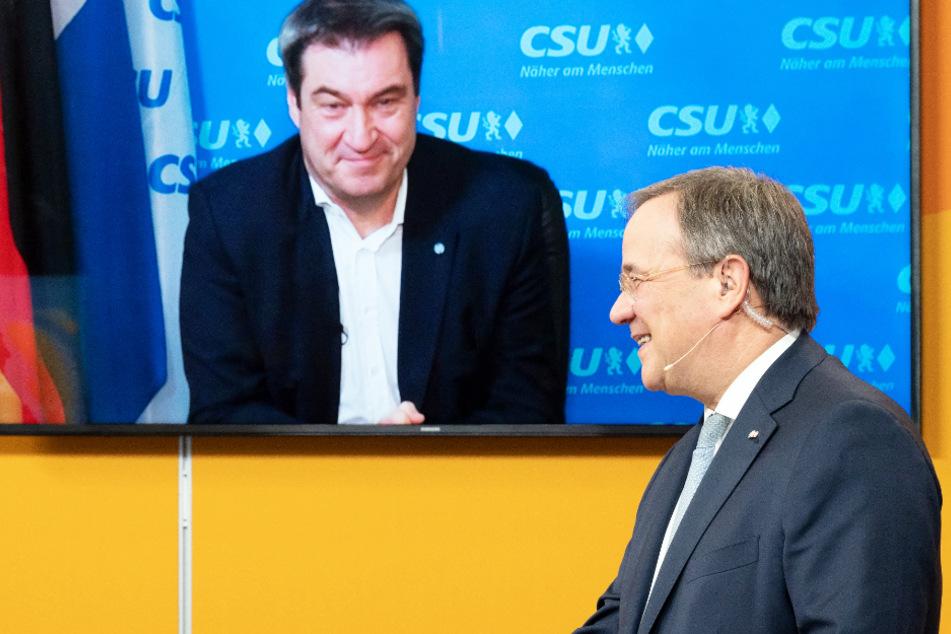 Armin Laschet ist CDU-Chef: So reagiert Markus Söder auf Wahl