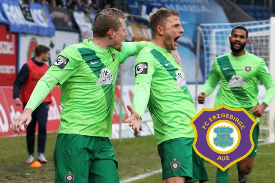 Sieg in Rostock! Aue marschiert Richtung 2. Liga