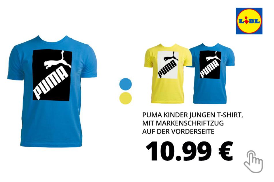 Puma Kinder Jungen T-Shirt, mit Markenschriftzug