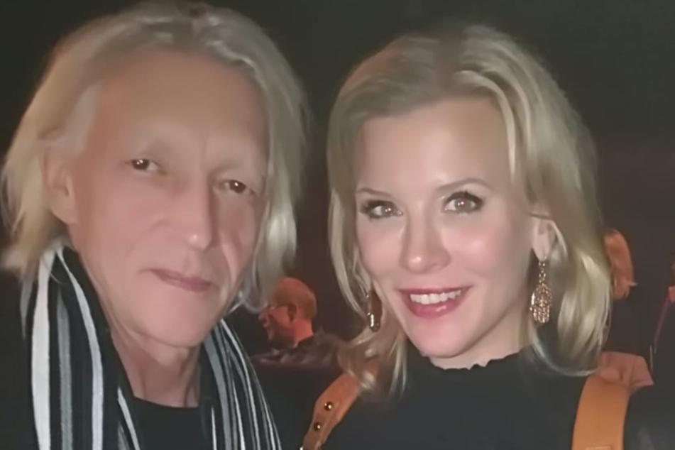 Rainer König mit seiner Schauspielkollegin Eva Habermann (44) bei der Filmpremiere in Berlin.
