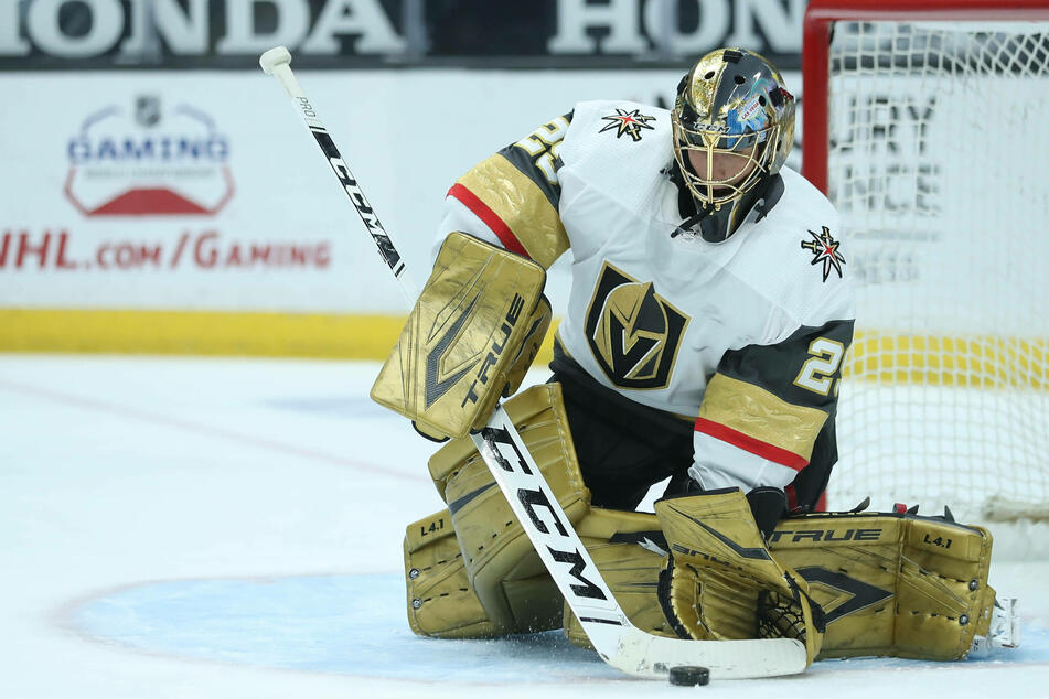 Marc-Andre Fleury stopped 31 shots to help the Golden Knights win 5-2 over the Sharks