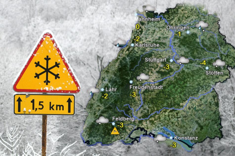 Meteorologischer Winter beginnt in Baden-Württemberg mit Schneefall!