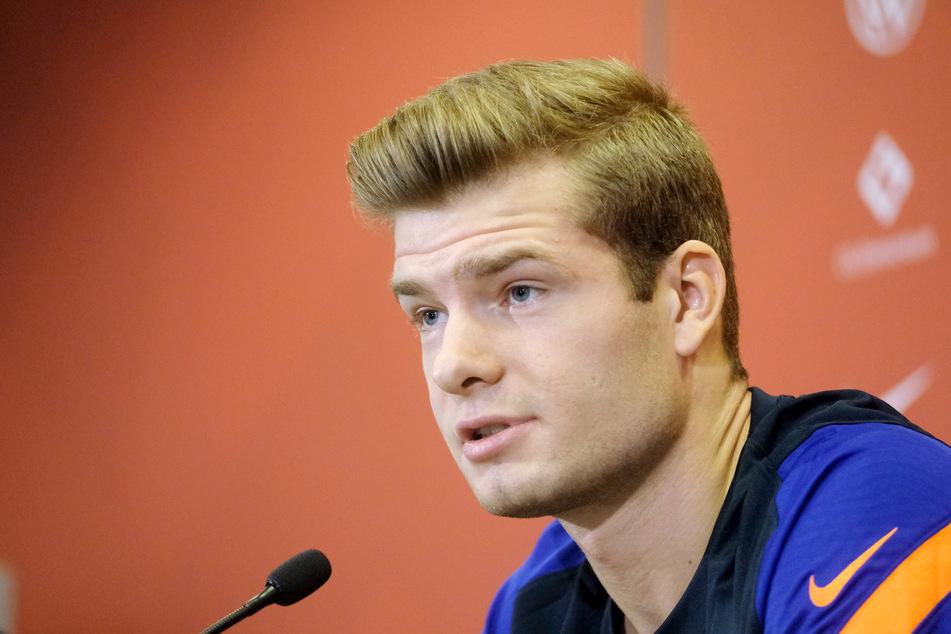 Auf der Pressekonferenz am Mittwoch machte RB Leipzigs Neuzugang bereits einen offensiven Eindruck. Ob er das auch auf dem Platz zeigt, wird man sehen.