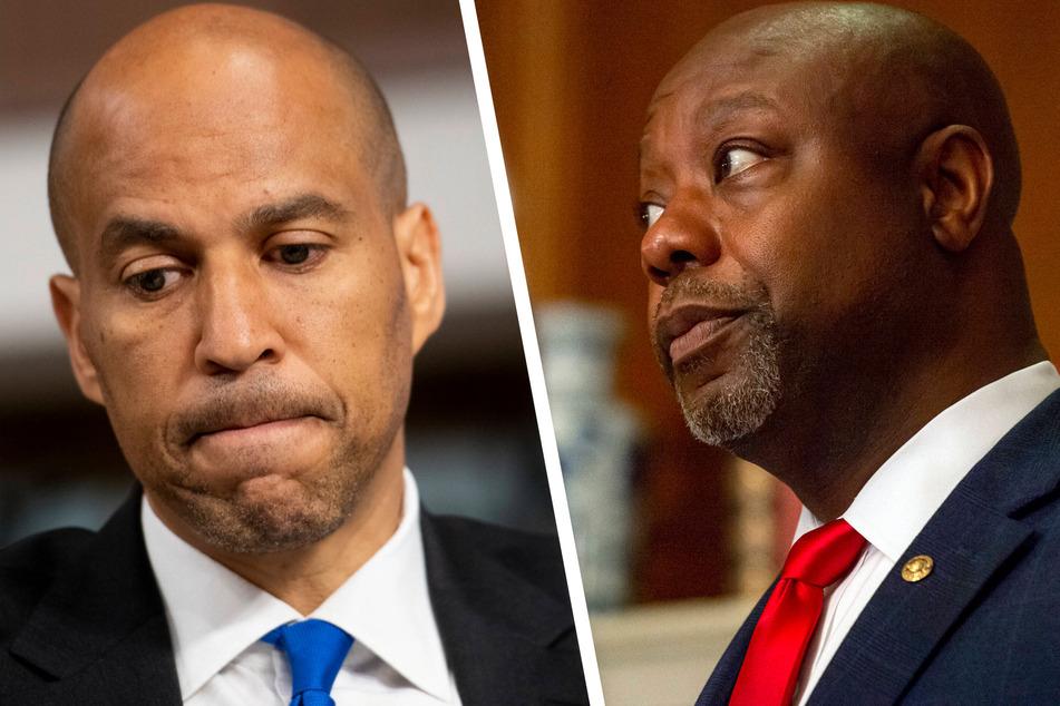 Democratic Senator Cory Booker (l.) and Republican Senator Tim Scott have failed to reach a bipartisan agreement on police reform.
