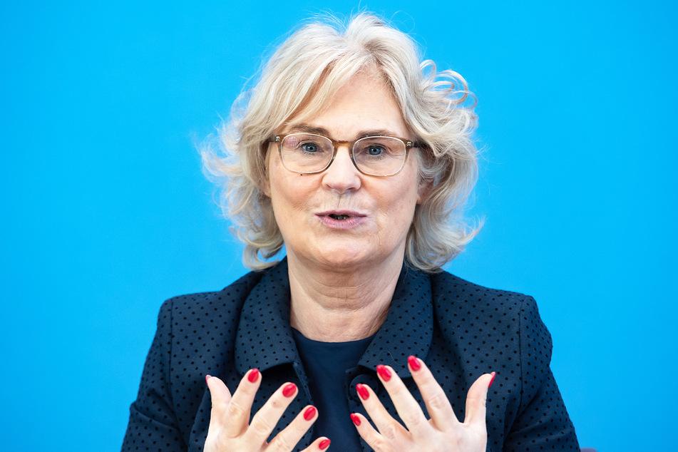 Christine Lambrecht (55, SPD), Bundesjustizministerin.