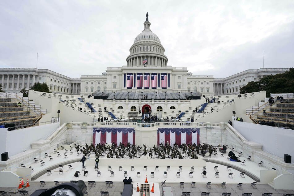 A dress rehearsal for Biden's inauguration ceremony was evacuated due to a nearby fire.