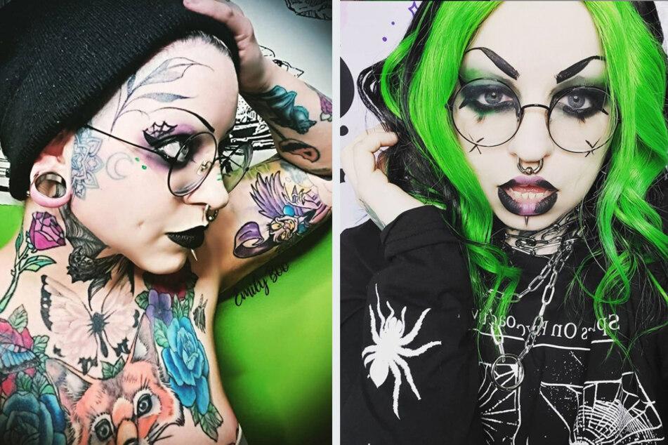 "Goth girl shocks her family with an ""Instagram girl"" makeover"