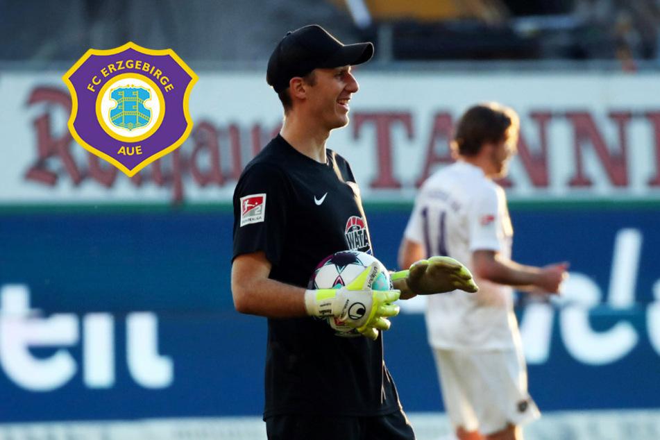 """Torhüter Klewin zu Null beim Aue-Debüt: """"So wünscht man sich das!"""""""