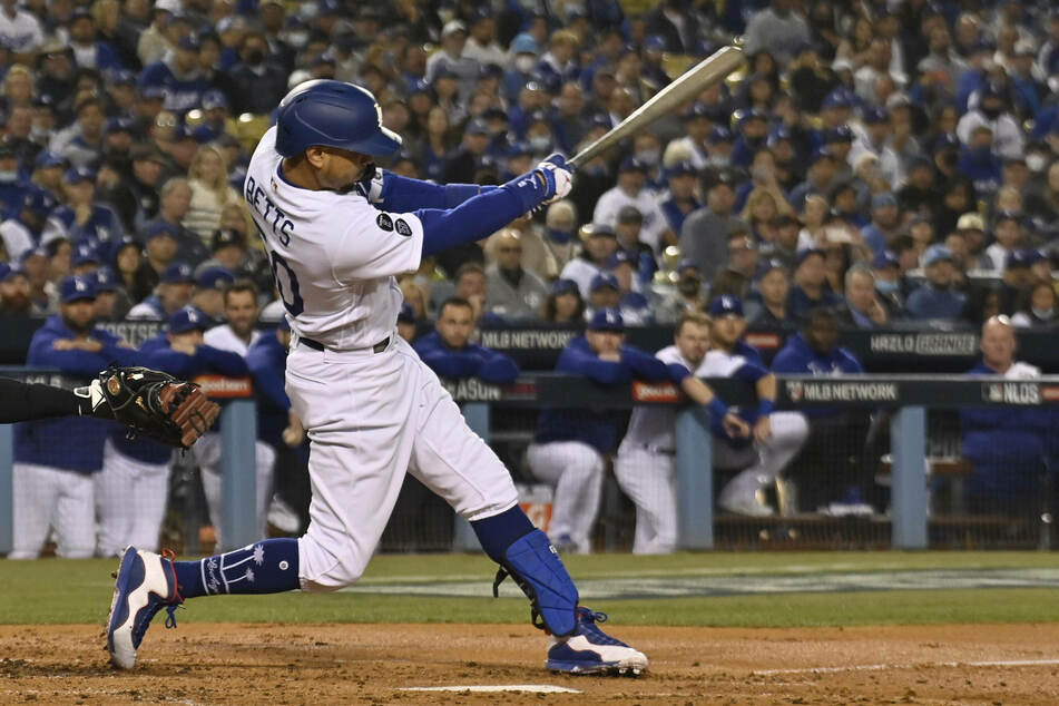 Dodgers right fielder Mookie Betts went 2-for-4 in LA's game four win on Tuesday night.