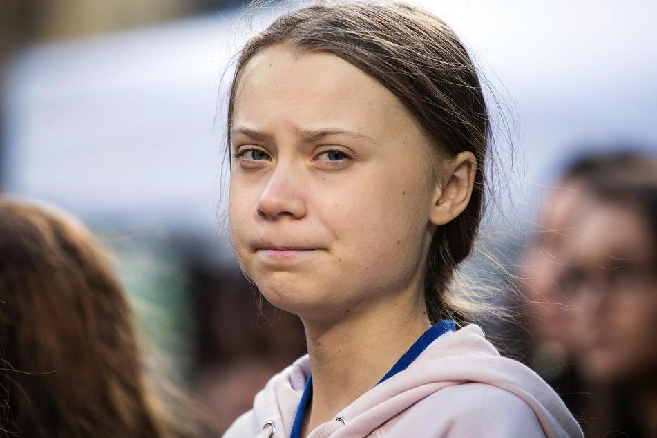 Greta Thunberg bei einer Kundgebung in Kanada