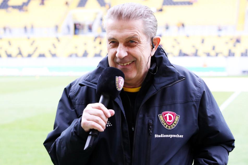 Peter Hauskeller ist seit 28 Jahren die Dynamo-Stimme im Stadion.