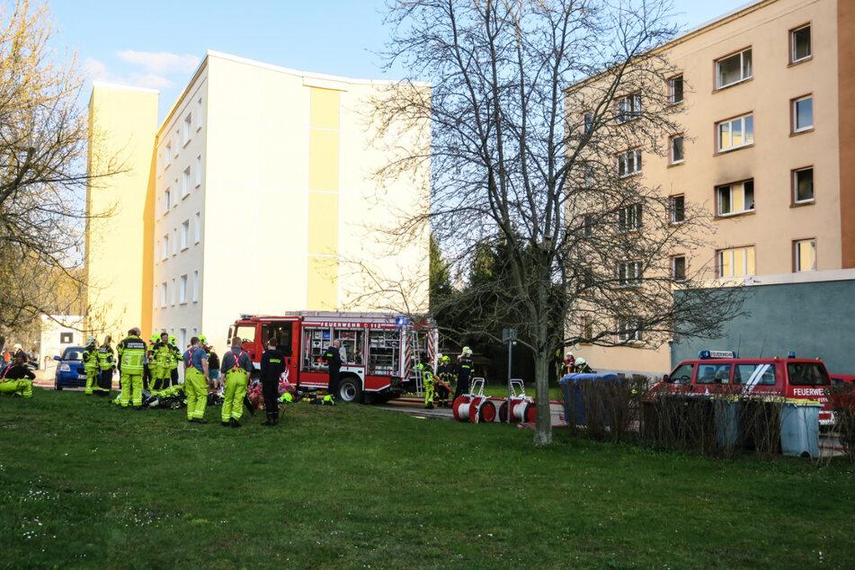 In einem Wohnblock in Kirchberg kam es am Mittwochabend zu einem Wohnungsbrand mit Großeinsatz der Feuerwehr.