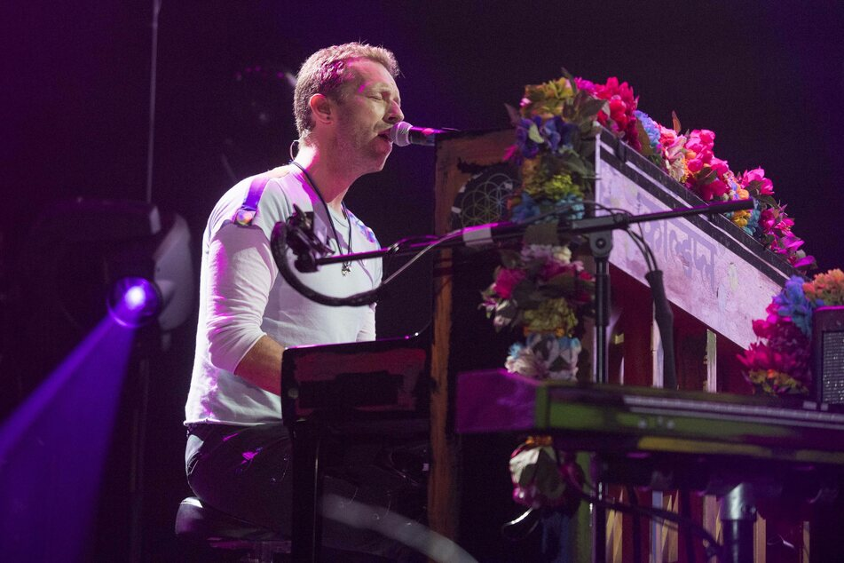 Coldplay performing at a Global Citizen festival in Germany in 2017.