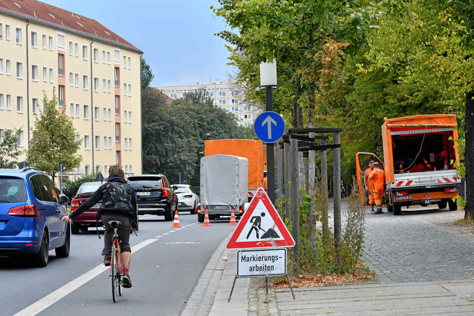 Radweg statt Parkplatz? Das Terrassenufer in Richtung Innenstadt.