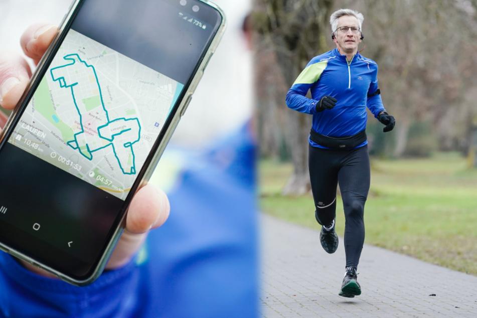Läufer Norbert lässt durch Joggen digitale Tiere entstehen
