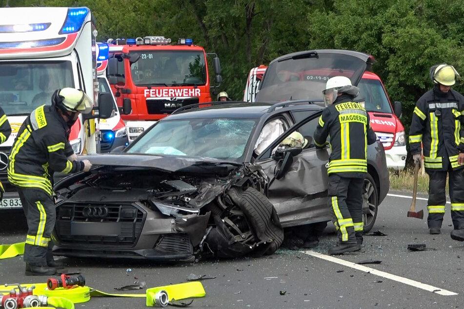 Der Fahrer des Audi wurde leicht verletzt.