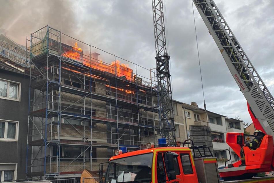 Dachstuhl in Flammen: Kölner Feuerwehr rückt aus