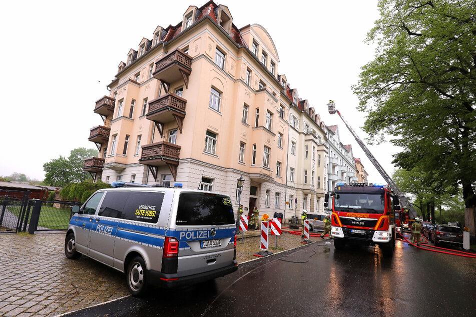 Auch die Polizei war vor Ort am Pestalozziplatz, um die Ermittlungen zu übernehmen.