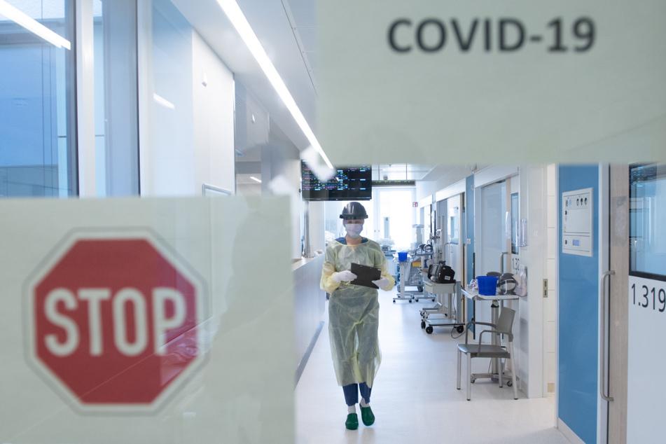 Die Corona-Intensivstation im Uniklinikum Dresden.