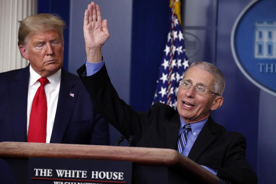 Der Immunologe Anthony Fauci (80, r.) muss die Behauptungen des US-Präsidenten immer wieder ins rechte Licht rücken.