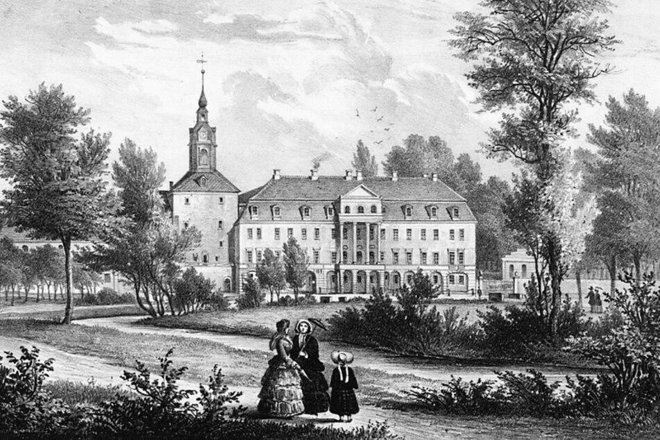 Schloss Lockwitz in alten Tagen (um 1860).