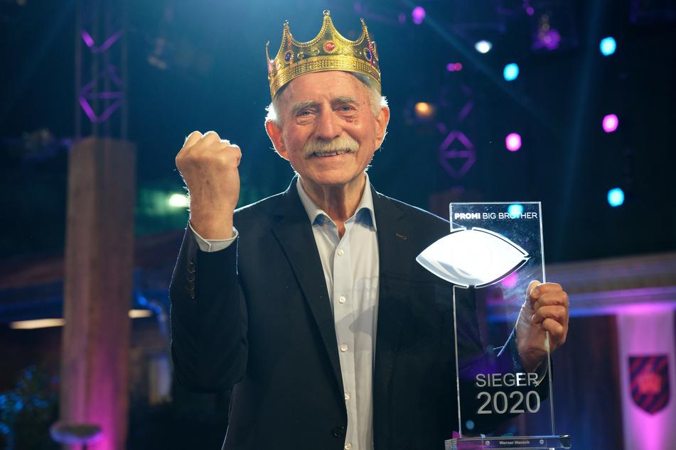 """Werner Hansch (82) durfte sich über den """"Promi Big Brother""""-Sieg freuen."""