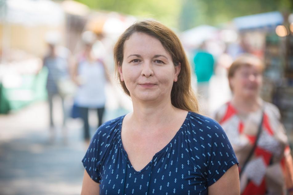 Wünscht sich einen zumindest zeitweise wieder geöffneten Parkplatz: Händler-Chefin Madeleine Megyesi-Lukaß (44).