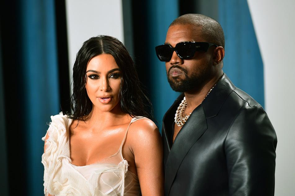 Kim Kardashian und Kanye West bei der Oscar-Party von Vanity Fair Anfang des Jahres.