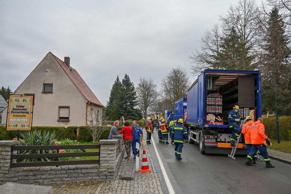 Auch ein Teilnehmer des Mediateams des Technischen Hilfswerks war vor Ort.