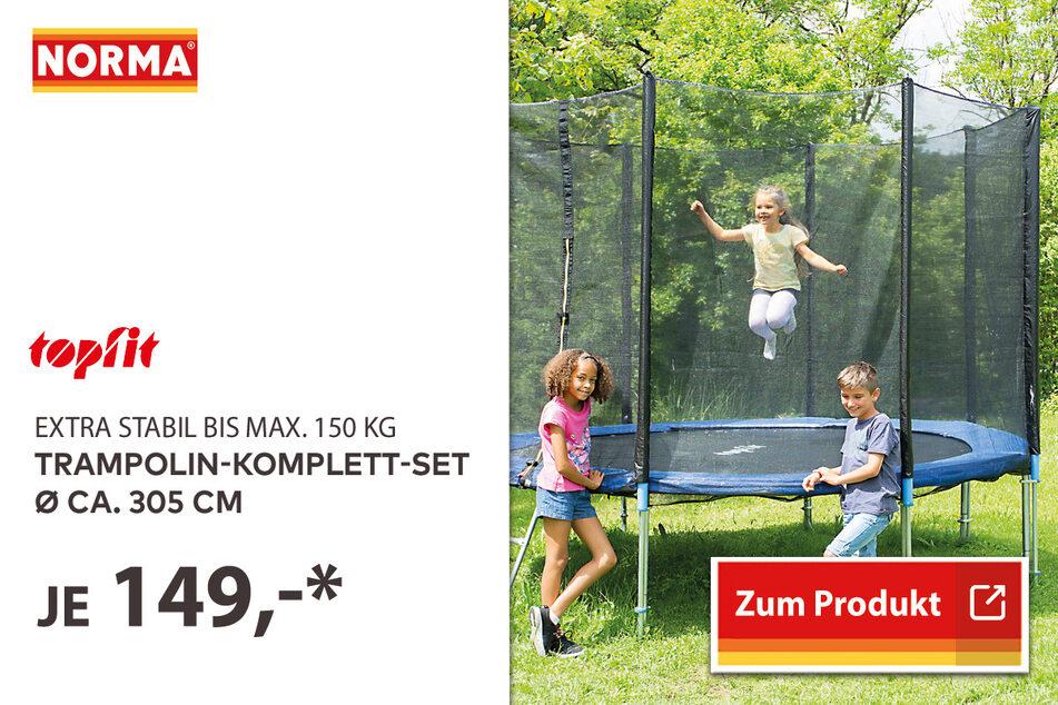 Trampolin-Komplett-Set Ø ca. 305 cm für 149 Euro.