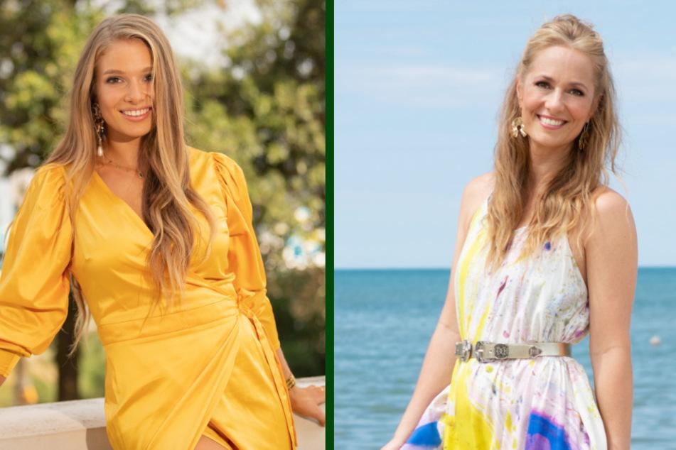 """Lola Weippert (24, l.) wird an Stelle von Angela Finger-Erben (40) die dritte Staffel von """"Temptation Island"""" moderieren. (Fotomontage)"""