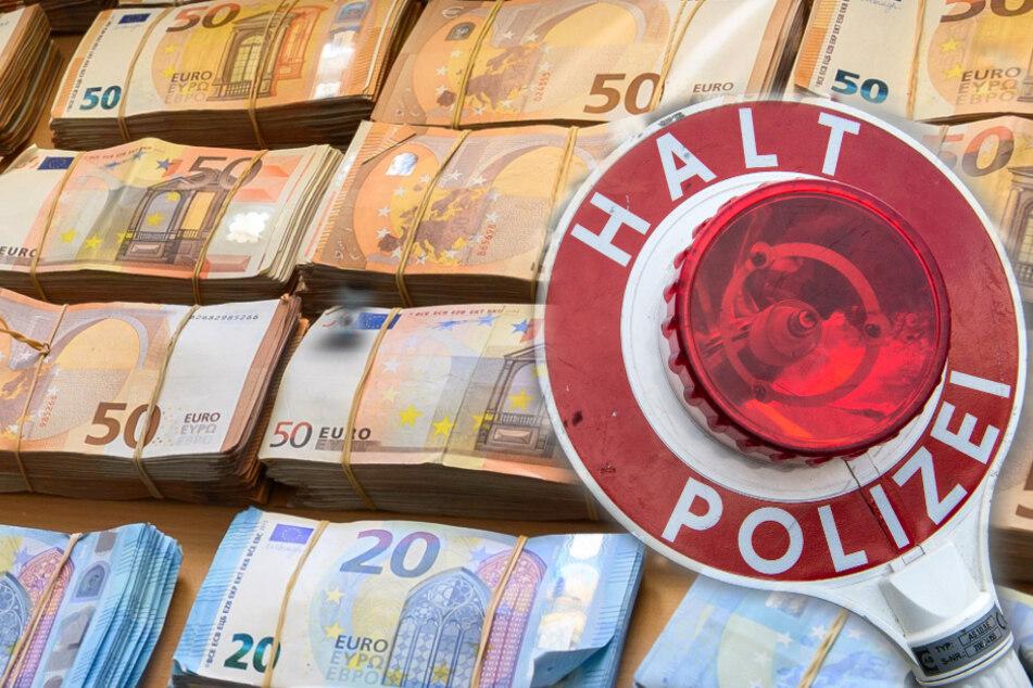 Krass: Polizei stoppt SUV und findet darin über 345.000 Euro!