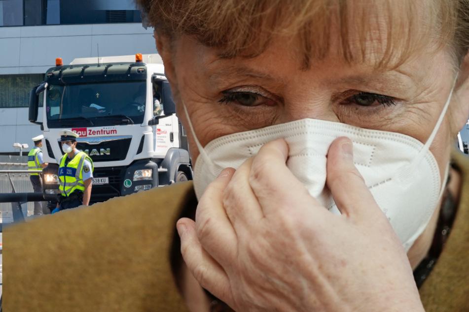 Grenzkontrollen wegen Coronavirus: Kanzlerin Merkel schließt nichts aus