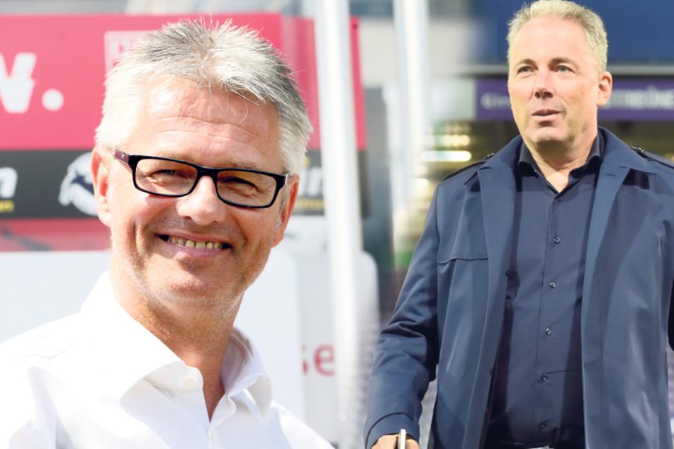 Ralf Heskamp (l.), Geschäftsführer des Halleschen FC, und Jürgen Wählend, Geschäftsführer des Zweitligisten VfL Osnabrück, wurden kontaktiert.