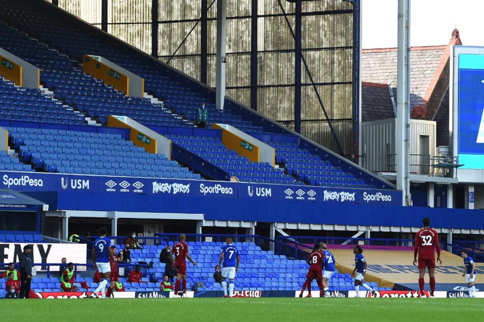 """Das Stadion des FC Everton. Hat sich ein Spieler der """"Toffies"""" tatsächlich des Kindesmissbrauchs schuldig gemacht?"""